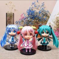 Figure Anime Hatsune Miku Nendroid Set 3pcs KWS