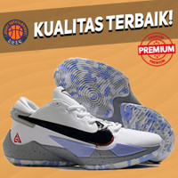 (SIZE ANAK 36-39) Sepatu Basket Sneakers Nike Zoom Freak 2 White Black