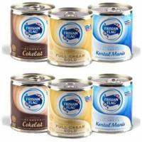 Susu Bendera cokelat/full cream gold/kental manis 370g