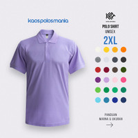 Kaos Polo Shirt Pique CVC KPM Apparel Size XXL / 2XL
