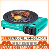 Paket Harga Tecstar Kompor Portable 2in1 Plus Ulltra Grill Panggangan