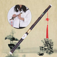 Natural Bamboo Bawu Ba Wu Transverse Flute Pipe Instrument in G Key