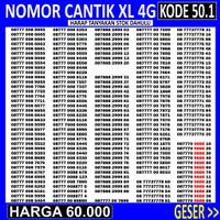 OBRAL 50.8 Nomor Cantik XL TRIPLE ABAB AABB - Nomer Cantik XL ABAB