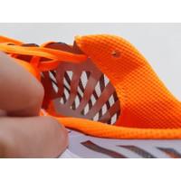 Sepatu Futsal Nike Lunar Gato II White Orange Metallic Silver Diskon