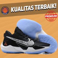 (SIZE ANAK 36-39) Sepatu Basket Sneakers Nike Zoom Freak 2 Black White