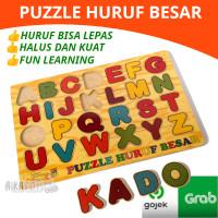 Mainan Edukasi Kayu - Puzzle Huruf Besar ABC