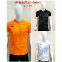 Baju Badminton ATASAN Bulutangkis Dewasa L.147 - Putih, M