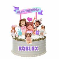 Roblox Girl Purple Topper Cake Birthday/Hiasan Kue Ulang Tahun