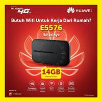 MiFi Modem WiFi 4G Telkomsel 14GB Huawei E5576 Bukan E5573 E5577 E5673