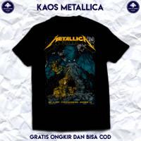 Kaos Band Metallica. T Shirt Band Metal Metallica. Kaos Pria Distro.