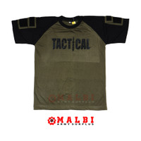 Kaos Tactical Pendek Hijau - M