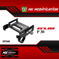 GUB P30 Holder HP Alumunium 360 Derajat Holder HP / GPS Universal