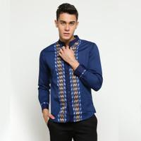 VM Baju Koko Biru Kemeja Koko Panjang Slimfit - D-022