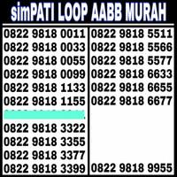 Nomor Cantik simPATI LOOP AABB MURAH