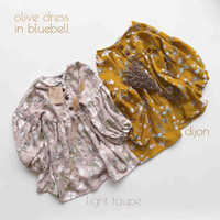 NEW OLIVE SHORT DRESS - Blus Tunik Baju Atasan Tunik Anak Bayi Rayon