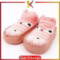 SK-P3 Sepatu Anak Bayi-Baby Prewalker Shoes Socks Anti Slip Kaos Kaki - BURUNGHANTU, 13 CM