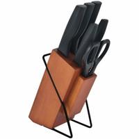 Ox-983 Oxone Pisau set 6pcs Dengan Tempat Kayu PP Handle Knife Set