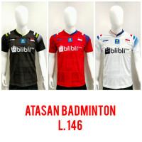 Baju Badminton ATASAN Bulutangkis Dewasa L.146 - Merah, M