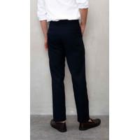 celana kerja pria slim fit formal bahan houseofcuff biru navy - 34