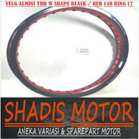 Velg Almini TDR W Shape 2 Warna Hitam dan Merah Ukuran 140 Ring 17
