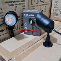 Audalux Lampu Sorot Outdoor Taman LED 7w 7watt COB IP65 Tancap Tempel