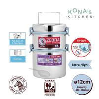 Zebra Food Carrier 12x2 Smart Lock II / Rantang Makanan Stainless