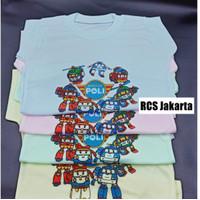Baju Bayi Anak Oblong / Kaos Harian Bayi Anak ROBOCAR POLI