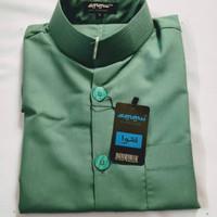 baju koko haibbah AMMU hijau tosca gelap