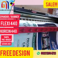 Cetak Spanduk/ Print Banner/ Baliho Online Murah Flexy Korcin 440