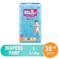 Popok Baby Happy Pants Size L 30+4 pcs STOCK READY