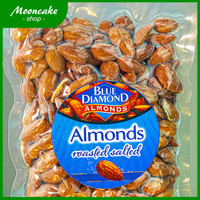 Kacang Almond Panggang Kupas Blue Diamond Roasted Salted 500gr