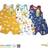 pakaian baju singlet kutung bayi anak velvet junior xxl Starry Night