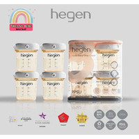 Botol Penyimpanan ASI / MPASI- Breast Milk Storage PPSU-Hegen uk.150ml