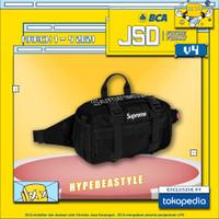 TAS SUPREME WAIST BAG FW19 BLACK ORIGINAL WAIST BAG SUPREME MURAH