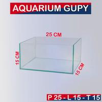 Aquarium 25x15x15 Aquarium mini, Aquarium kaca 25x15x15 Tebal 5mm