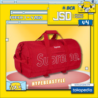 TAS TRAVEL BAG GYM DUFFLE SUPREME DUFFLE BAG FW18 RED ORIGINAL BAG