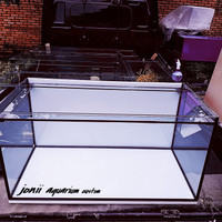 aquarium 100x50x50 10mm ban gantung set top filter dan tutup