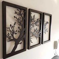 hiasan dinding custom wall art 3 panel pajangan ruang tamu