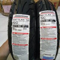 PAKETAN BAN LUAR BATTLAX SC UKURAN 120/70-13 DAN 140 /70 -13 NMAX