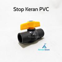 Ball Valve Stopkeran Stop kran Plastik Sambungan Pipa PVC, 1/2.