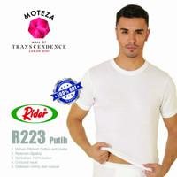 Kaos Dalam Oblong Pria T-Shirt - O Neck- RIDER R223 -Putih, Hitam, Abu