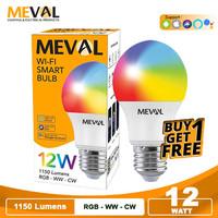 Lampu Wifi Smart Bulb LED 12W RGB+WW - MEVAL