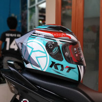 KYT R10 Aqua marine spoiler 3D GP Smoke