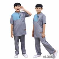 Baju Koko Kurta Anak Laki Laki Setelan Katun Madina 2-10 Tahun