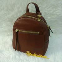 Tas FOSSIL Megan Backpack Brown AUTHENTIC USA
