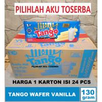 Tango Wafer VANILLA 130 gr - ( HARGA 1 KARTON ISI 24 PCS )