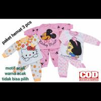 promo 3 pcs baju tidur bayi/balita/piyama anak usia 0-12 bln libbaby