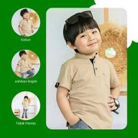 Baju Kemeja Koko Anak Laki Laki Terbaru Katun Krem 1 2 3 4 5 6 Tahun