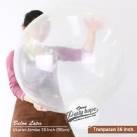 balon latex jumbo TRANPARAN 36inc / clear dekorasi balon latex 36 inch