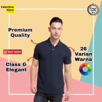 Kaos Polo Polos Pria Polo Shirt Pria Baju Polo Pria Cowo Navy/Biru - S